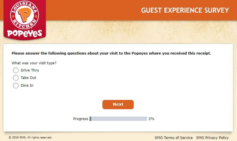Tellpopeyes Survey Website