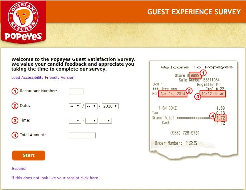 popeyes guest survey