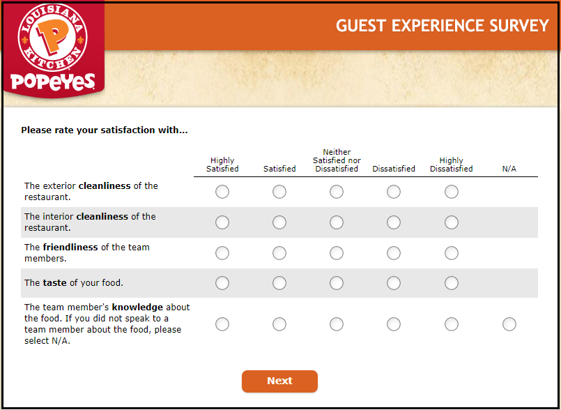 tellpopeyes survey rewards